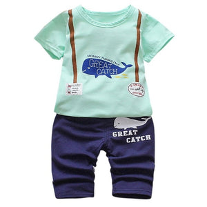 Great Catch Shorts Set 2T-5T - Jane & Andy Kids