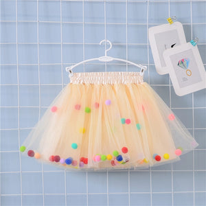 Girls Pom Pom Skirt - Jane & Andy Kids