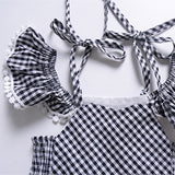Girls Gingham Check Dress - Jane & Andy Kids