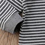 Carlton Striped Hoodie One Piece 6-24M - Jane & Andy Kids