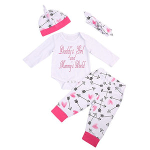 """Daddy's Girl, Mommy's World"" Pants Set 6-18M"
