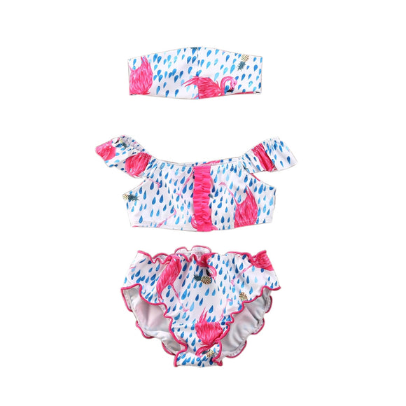 Flamingo 3 PC Swimsuit 2T-6 - Jane & Andy Kids