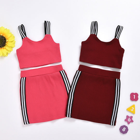 Sabrina Sporty Skirt Set 18M-6T - Jane & Andy Kids