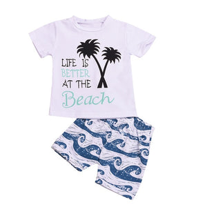 Better At The Beach Shorts Set 12M-24M - Jane & Andy Kids