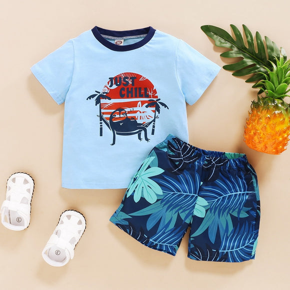 Just Chill Shorts Set 12M-6 - Jane & Andy Kids