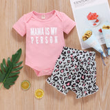 Mama Is My Person Shorts Set 3M-18M - Jane & Andy Kids