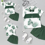 The Palm Shorts Set 2T-7 - Jane & Andy Kids