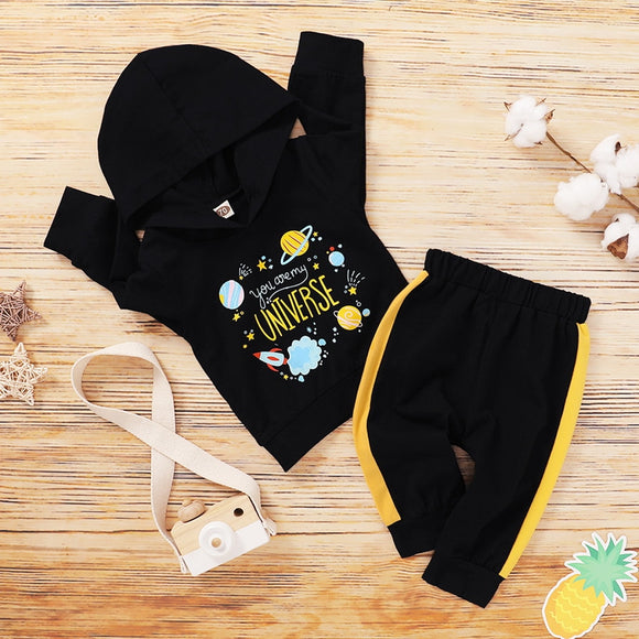 You Are My Universe Pants Set 3M-18M - Jane & Andy Kids