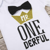 """Mr. One Derful"" Suspender Set 0-24M - Jane & Andy Kids"
