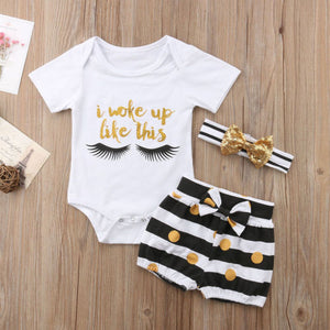 Woke Up Like This 3PC Set 6M-3T - Jane & Andy Kids