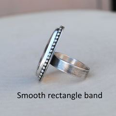 RESERVED: White Buffalo Ring, Size 6