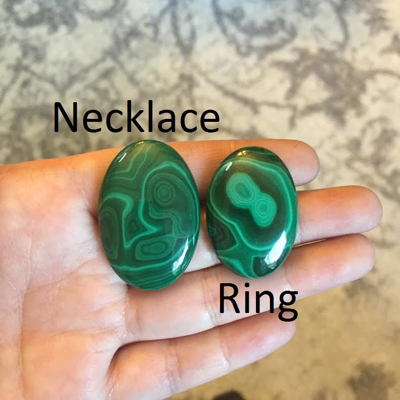 RESERVED: Malachite Necklace and Ring