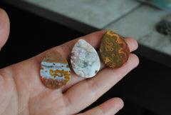 Ocean Jasper 30x22mm drop cabochons