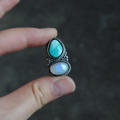 RESERVED: Royston Moonstone Ring (Payment 3)