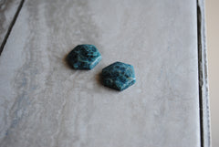 Apatite hexagon cabochons