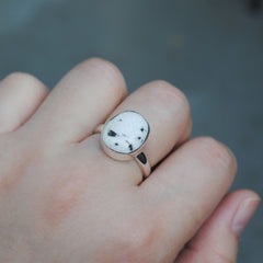 RESERVED: White Buffalo Ring Size 6