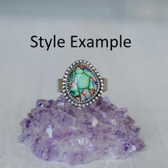 RESERVED: Monarch Opal Ring (@parallaxe)