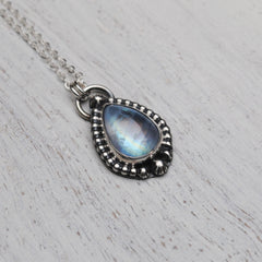 RESERVED: Labradorite Drop Necklace