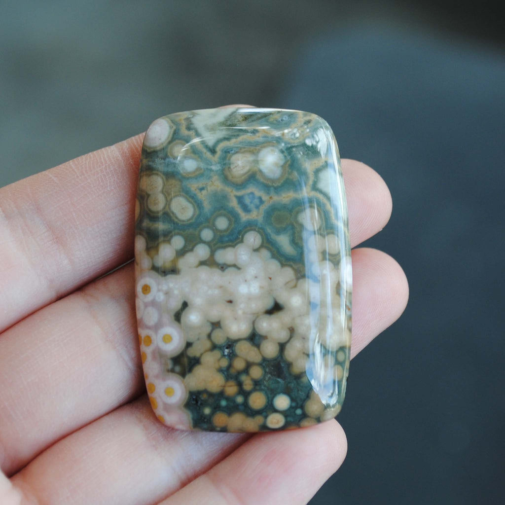 Large Rectangle Ocean Jasper cab