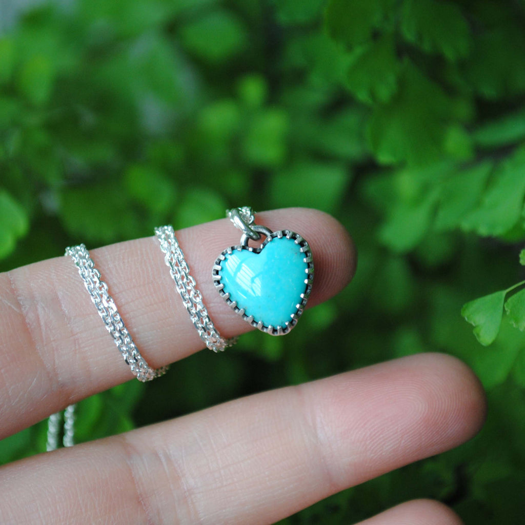 RESERVED: Turquoise Heart Necklace