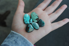 Cloud Mountain turquoise cabochons