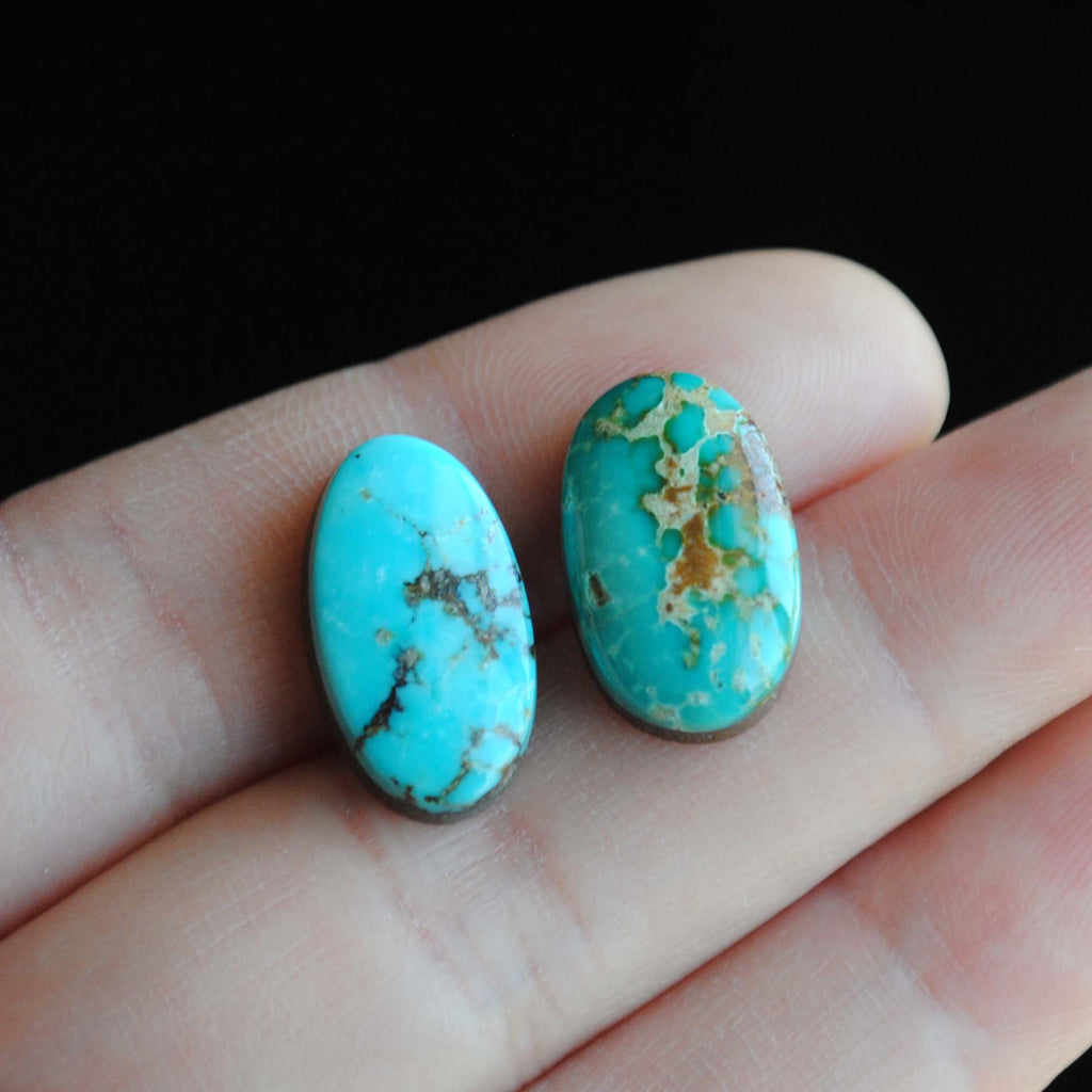 Kingman and Blue Gem turquoise cabochons