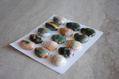 Small Drop Ocean Jasper cabochons