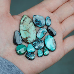 Cloud Mountain Turquoise Freeform Cabs