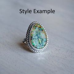 RESERVED: Monarch Opal Drop Ring SIZE 7