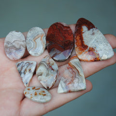 Crazy Lace Agate Freeform Cabs