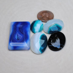 Mixed Agate Cabs