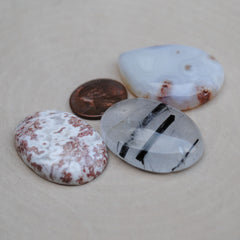 Mixed Lot Cabs (Agate and Quartz)