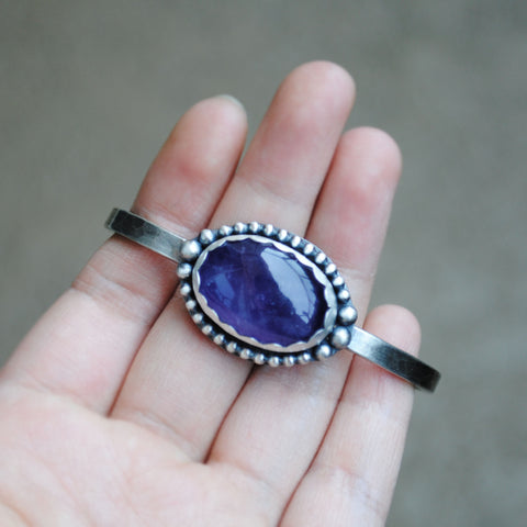 Amethyst Fancy Bezel Cuff