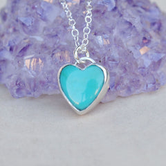 AS SEEN ON TV (Law & Order SVU): Turquoise Heart Necklace