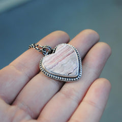 Rhodochrosite Heart Necklace
