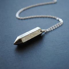 Pyrite Point Necklace
