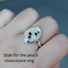 RESERVED: Amethyst and Peach Moonstone