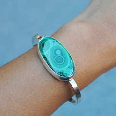 RESERVED for Beth (Malachite Cuff)