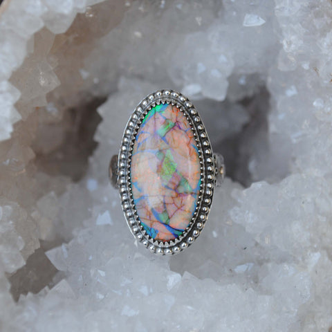 FINAL PAYMENT: Monarch Opal Ring, Size 8-8.25