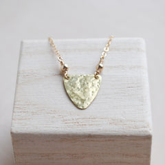 Hammered Shield Necklace