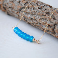 Swarovski Crystal Bead Bar Necklace