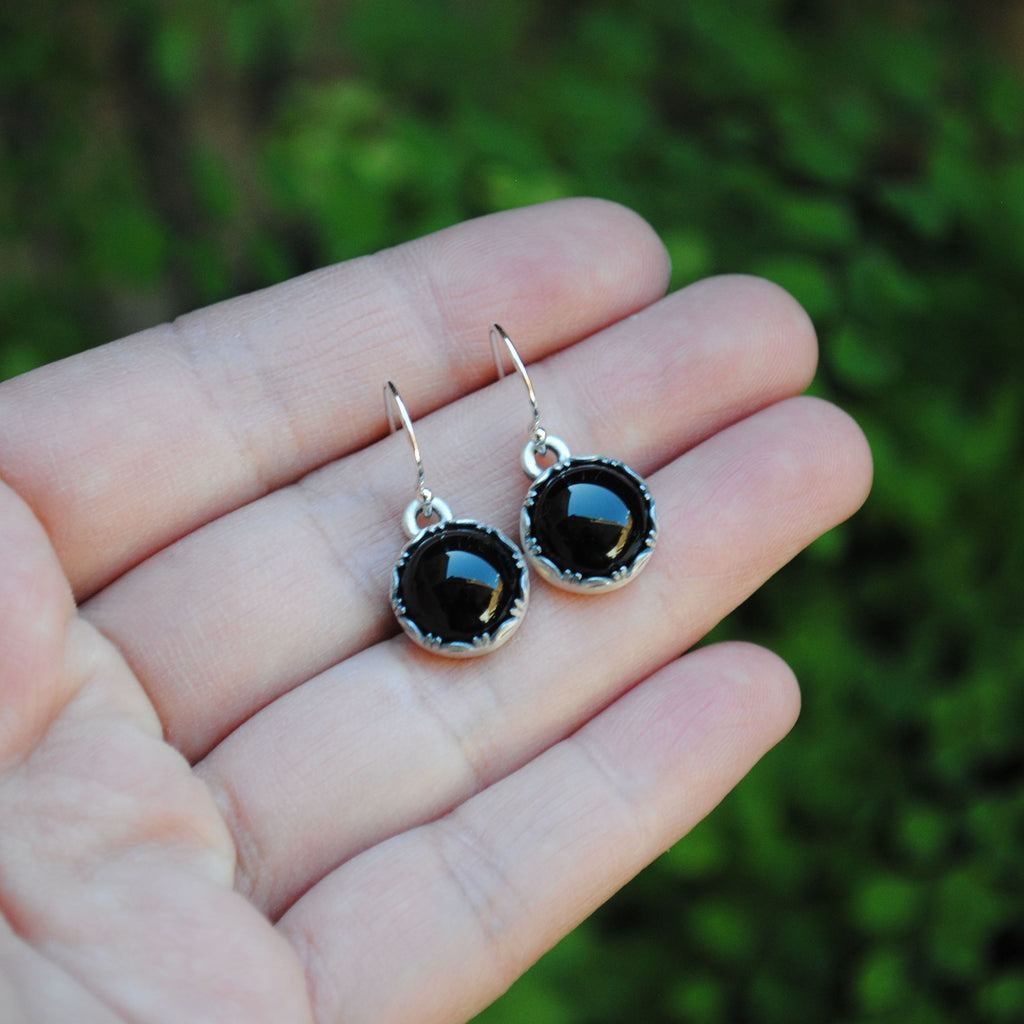 RESERVED for Shari (black onyx earrings)