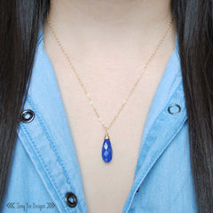 Lapis Lazuli Long Drop Necklace