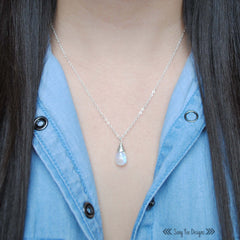 Smooth Moonstone Necklace