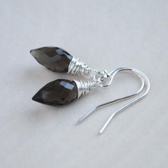Smoky Quartz Point Earrings