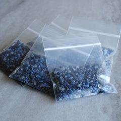 Sapphire faceted beads (1 bag of 300 cts)