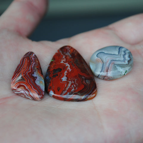 Crazy Lace Agate Cabs