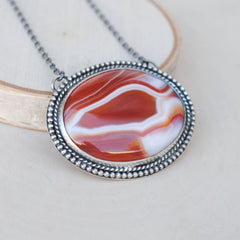SALE: Orange Agate Necklace