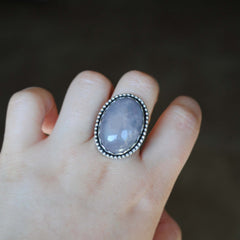 SALE: Rose Quartz Statement Ring, Size 8.5