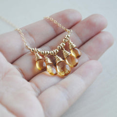 Citrine Bib Necklace